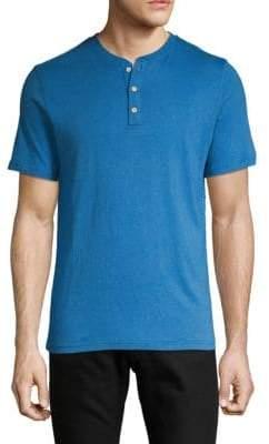 Linen Blend Short-Sleeve Henley
