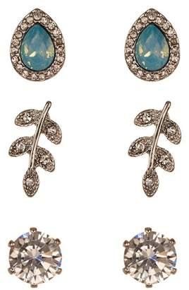 Joe Fresh CZ Accented Earrings Set - Set of 3