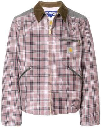 Junya Watanabe checked bomber jacket
