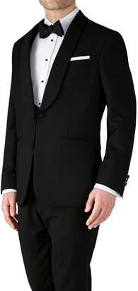 Charles Tyrwhitt Black Slim Fit Shawl Collar Dinner Wool Jacket Size 36