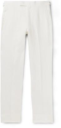 Anderson & Sheppard Linen Trousers - Men - White