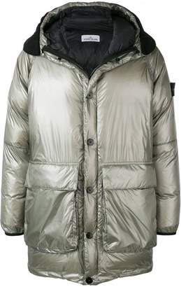 Stone Island hooded puffer jacket
