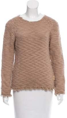 Gianfranco Ferre Fur-Trimmed Wool Sweater