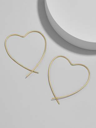 BaubleBar Corazon 18K Gold Plated Earrings