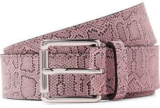 dad78206c6b Très Bien Snake-Print Leather Belt