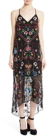 Alice + OliviaWomen's Alice + Olivia Jameson Embroidered Midi Dress