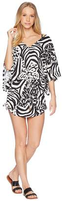 Luli Fama Cayo Setia Cabana V-Neck Dress Cover-Up Women's Swimwear