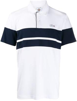 Lacoste contrast stripe polo shirt