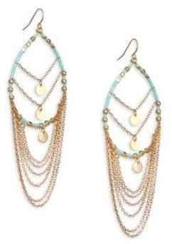 """Ettika Seed Bead Wire Hoop Earrings/3"""""""