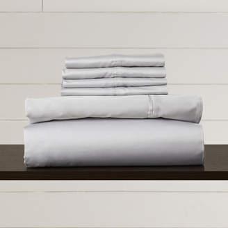 August Grove Hiram 600 Thread Count 6-Piece Egyptian Quality Cotton Sateen Deep Pocket Sheet Set
