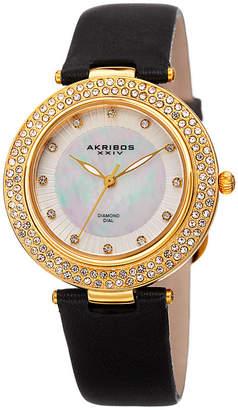 Akribos XXIV Womens Black Strap Watch-A-1008bkg