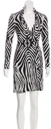 Diane von Furstenberg Animal Print Wrap Dress w/ Tags