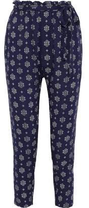 Eberjey Buena Vista Hudson Tie-front Printed Voile Pajama Pants