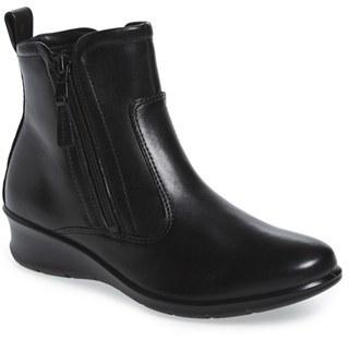 Women's Ecco 'Felicia' Almond Toe Zip Bootie $169.95 thestylecure.com