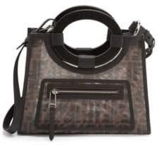 Fendi Women's Small FF Runaway Mesh Shopper - Black Multi