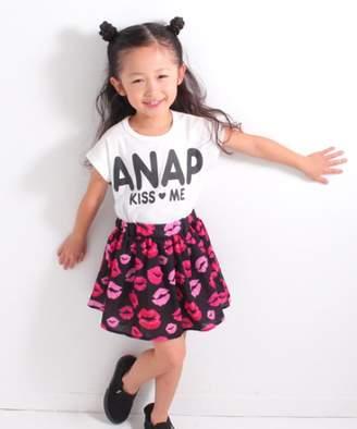 ANAP (アナップ) - ANAP KIDS リップ柄ドッキングワンピース