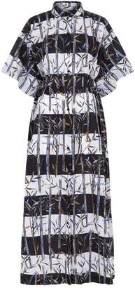 Kenzo Bamboo Print Shirt Dress