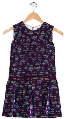 Oscar de la Renta Girls' Pleated Tweed Dress