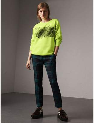 Burberry Doodle Print Cotton Sweatshirt