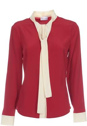 RED Valentino Neck Tie Blouse