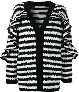 Philosophy di Lorenzo Serafini ruffled striped cardigan