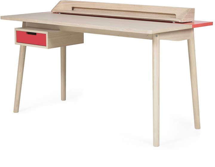 Hartô - Honoré Schreibtisch, erdbeerrot (RAL 3018)