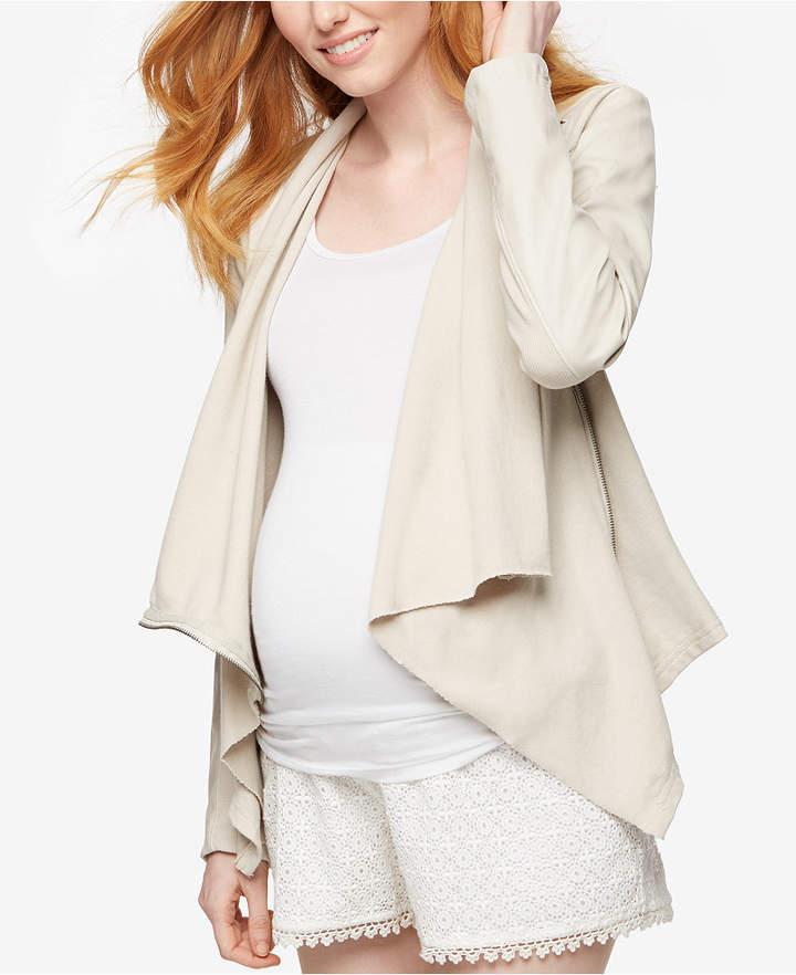 Blank NYCBLANK NYC Maternity Draped Faux-Leather Jacket