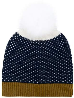 Yves Salomon Enfant pompom knitted beanie