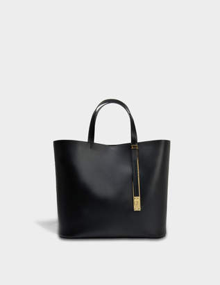 Sophie Hulme The Exchange E/W Bag in Black Cow Leather