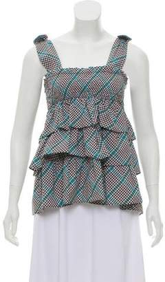 Burberry Ruffle-Accented Sleeveless Top