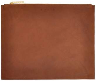 Eddie - Leather Pouch Large Brown