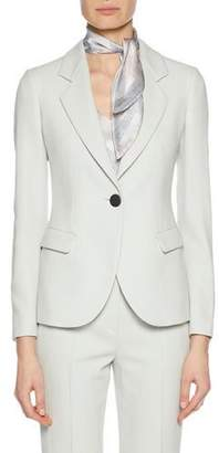 Giorgio Armani Notched-Lapel One-Button Virgin Wool Jacket