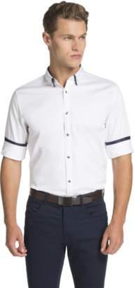 yd. WHITE MONACO SLIM FIT DRESS SHIRT