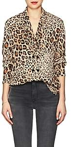 Frame Women's Cheetah-Print Double-Breasted Blouse