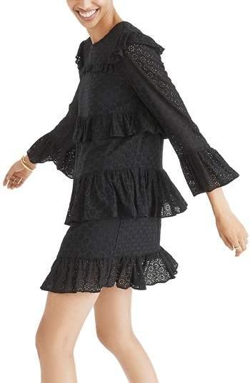 Madewell Waterlily Ruffle Eyelet Dress