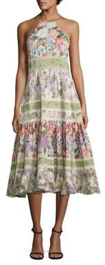 Rebecca Taylor Printed Cotton & Silk Halter Dress $695 thestylecure.com