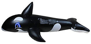 Pool' Pool Central Inflatable Black & White WhalePool Float