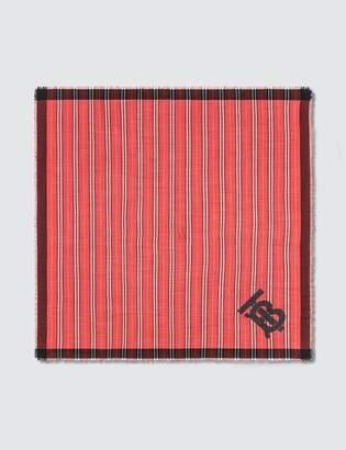 Burberry Monogram Motif Large Square Scarf