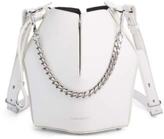 Alexander McQueen Small Leather Bucket Bag