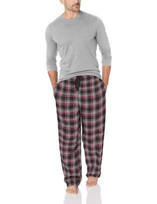 c5c1bf92fd Jockey Men s Flannel Sleep Pant and Jersey Top Pajama Set