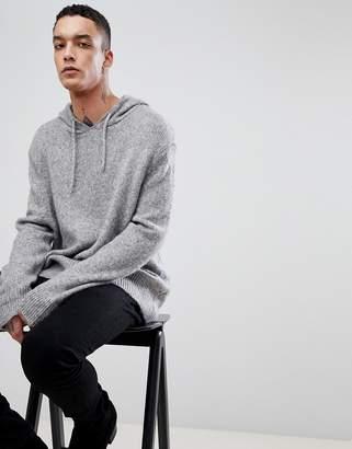 AllSaints Hooded Sweater In Fine Alpaca Blend