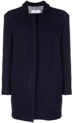 Closed ribbed cardi-coat