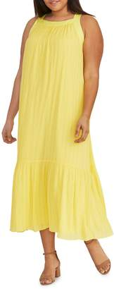 Rachel Roy Plus Leo Flounce Maxi Dress