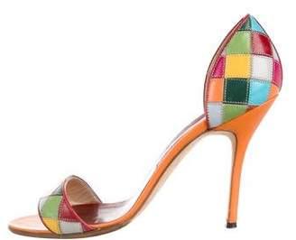 Manolo Blahnik Patchwork d'Orsay Sandals