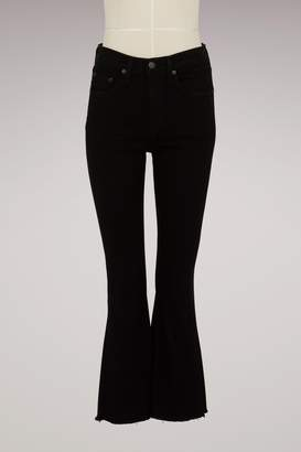 Rag & Bone Cotton Cropped Flare Jeans