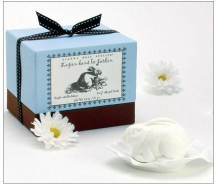 Gianna Rose Atelier - rabbit in the garden soap with leaf dish by gianna rose
