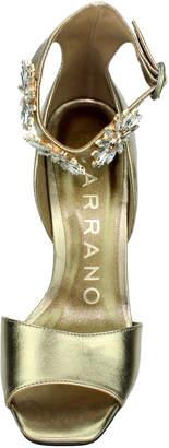 Carrano Giovanna Crystal Flower-Embellished Dress Sandals