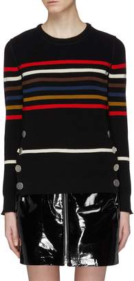 Sonia Rykiel Mock button hem stripe sweater