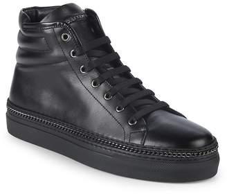 John Galliano Men's Leather High-Top Sneakers