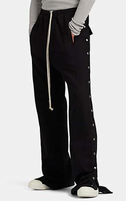Rick Owens Men's Cotton Wide-Leg Tear-Away Track Pants - Black